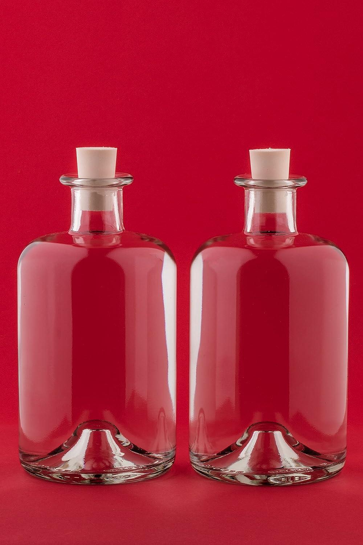 slkfactory 4Botellas vacías 1000ml frascos de Farmacia 1L 100cl Licor Botellas Licor Botellas vinagre Botellas Aceite