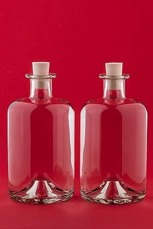slkfactory 4 Botellas Vacías 1000 ML frascos de Farmacia 1 L 100 Cl Licor Botellas Licor Botellas vinagre Botellas Aceite: Amazon.es: Hogar