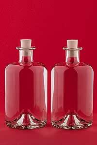 Botellas vac/ías de Cristal casa-vetro 3,4,6 o 10 x 1000 ml Blanco 6 Unidades Vidrio