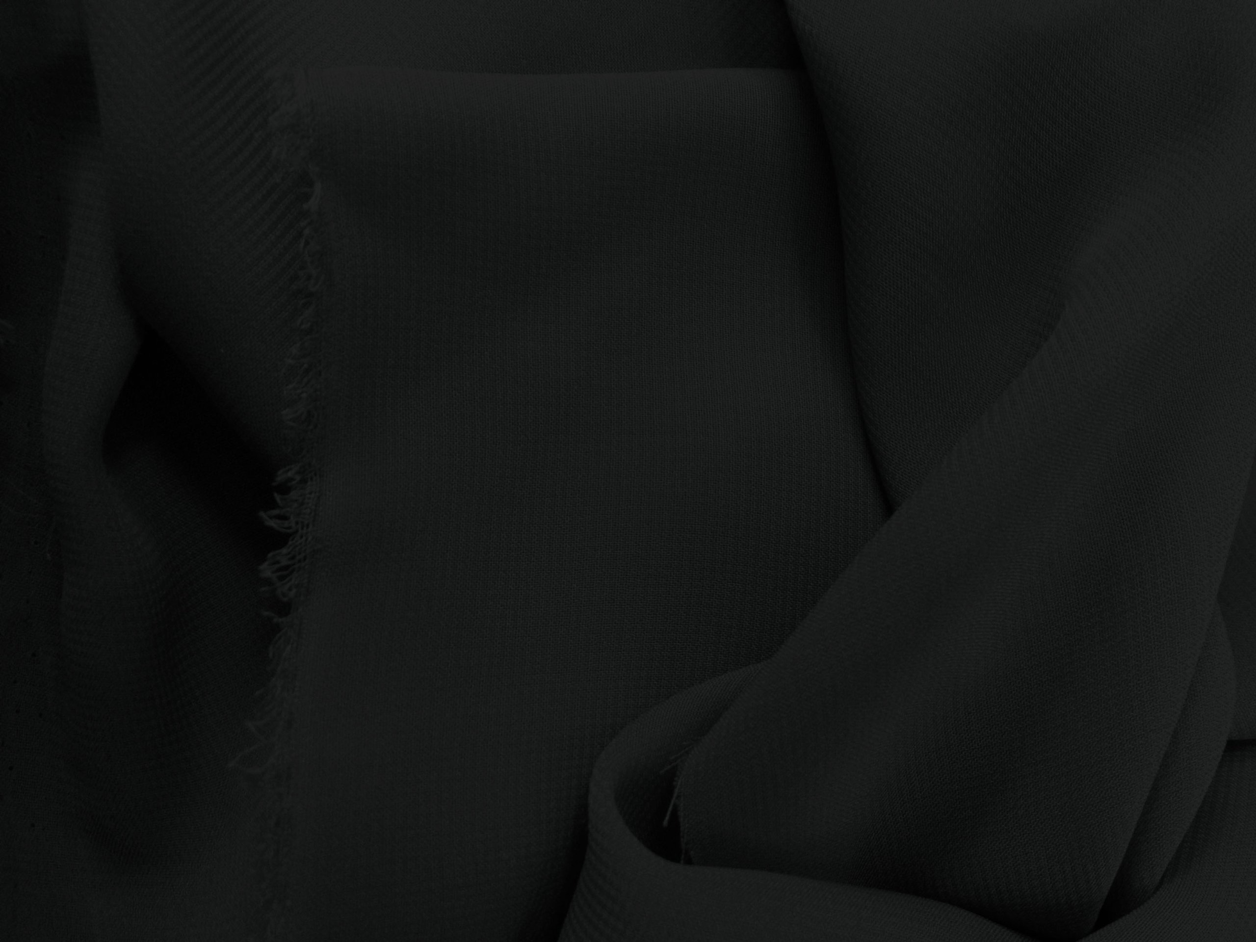 1 X Chiffon Black 58 Inch Fabric By the Yard (F.E.
