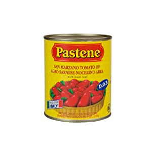 Pastene San Marzano Tomatoes D.O.P., 28.6 Ounce (Pack of 12)