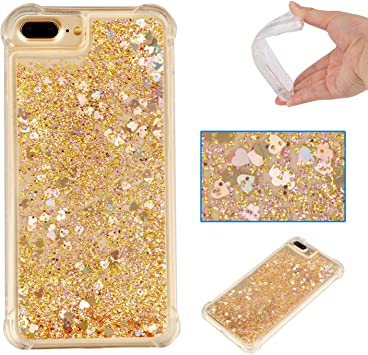 coque iphone 7 plus liquide paillette