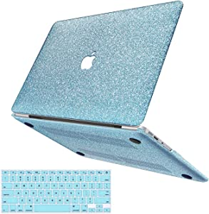 MacBook Pro 13 Inch Case A1502 A1425 (Old Gen 2012-2015), Anban Glitter Bling Smooth Case with Keyboard Cover Compatible for Apple MacBook Pro 13 Inch with Retina Display, NO CD Rom, NO Touch Bar