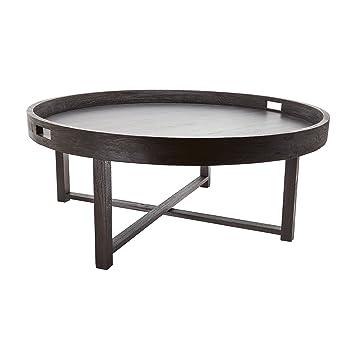 Dimond Home 784059 Round Teak Coffee Table Tray, 42u0026quot; X 18u0026quot;, ...