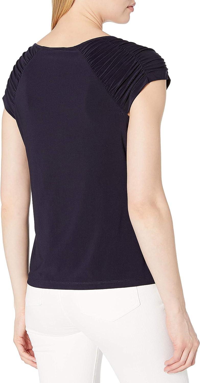 Tommy Hilfiger Womens Short Sleeve Knit Grommet Top