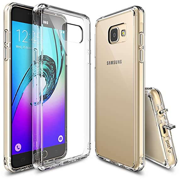 new arrival 6fd6a 7e6a5 Ringke Fusion Compatible with Galaxy A7 2016 Case Crystal Clear PC Back TPU  Bumper [Drop Protection, Shock Absorption Technology][Attached Dust Cap] ...