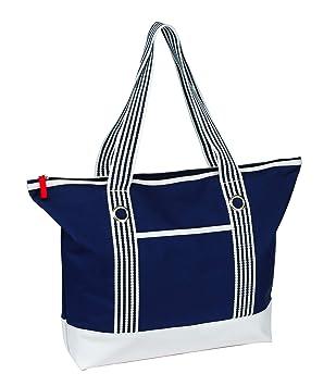 une-Taschen - Bolsa de playa Mujer azul/blanco