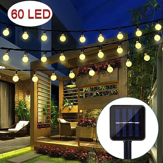 BAOANT - Guirnalda de luces LED, funcionamiento con energía solar ...