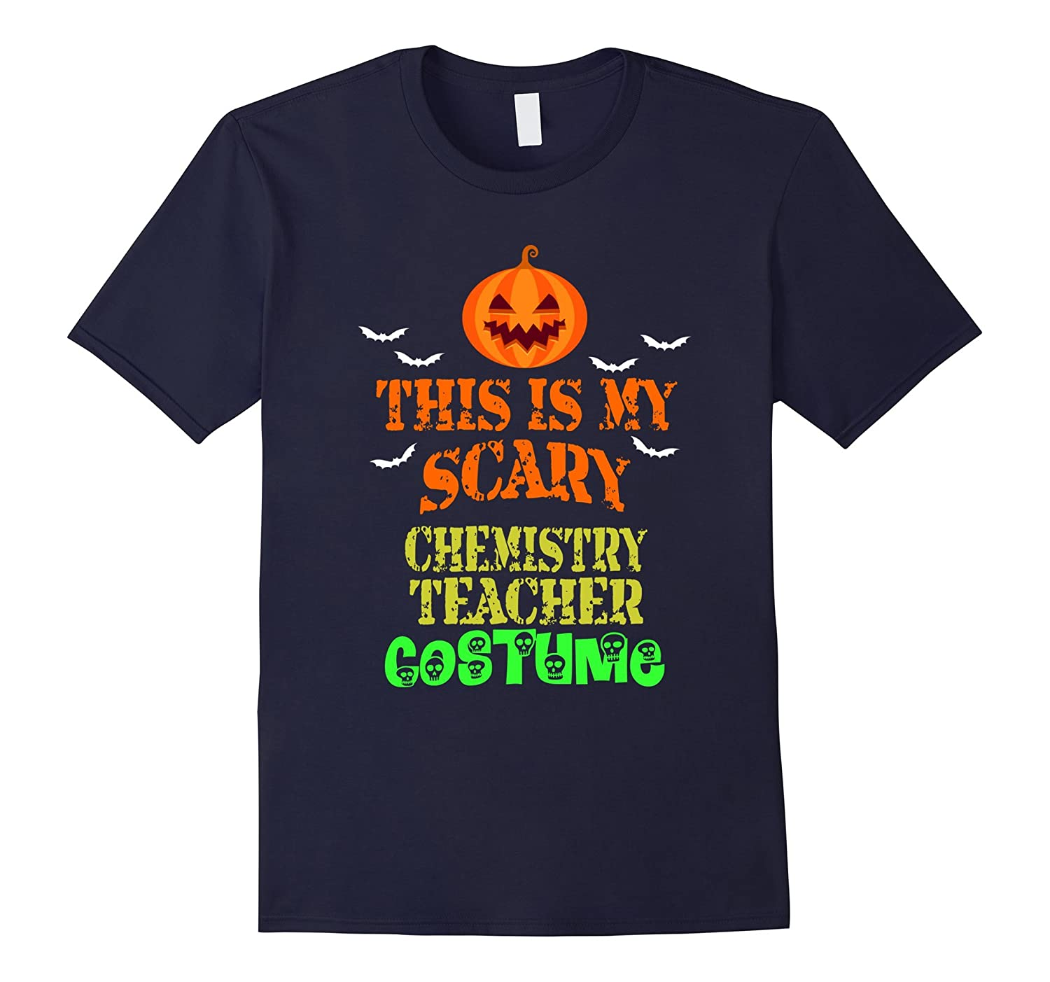 This is My Scary Chemistry Teacher Costume Halloween T-Shirt-FL