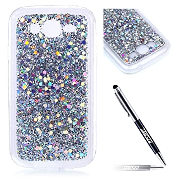 Carcasa Samsung Galaxy Grand Neo Plus i9060, Funda Samsung Galaxy Grand Duos i9082, JAWSEU Carcasa Caso Estuche 3D Creativa Diseño Lujo Moda Crystal ...