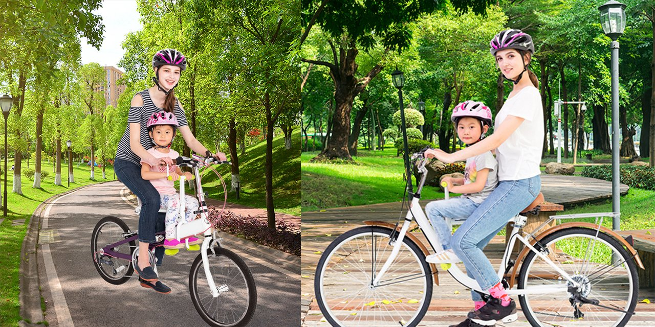 PaPaSeat Portable Light Weight Fast Install Child Bike Seat, Works with All City Bikes (USA, Canada, Paris, Milan, Warsaw, Tokyo, Taipei…) by PaPaSeat (Image #7)