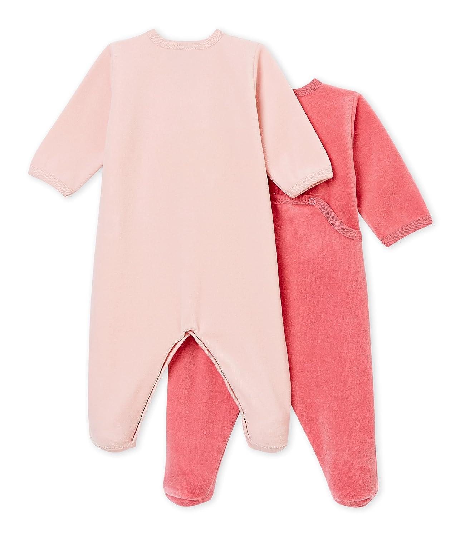Petit Bateau Baby-M/ädchen Schlafstrampler 2er Pack