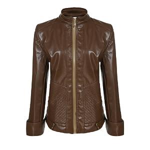 ANGVNS Femme Blouson Veste en cuir très fashion