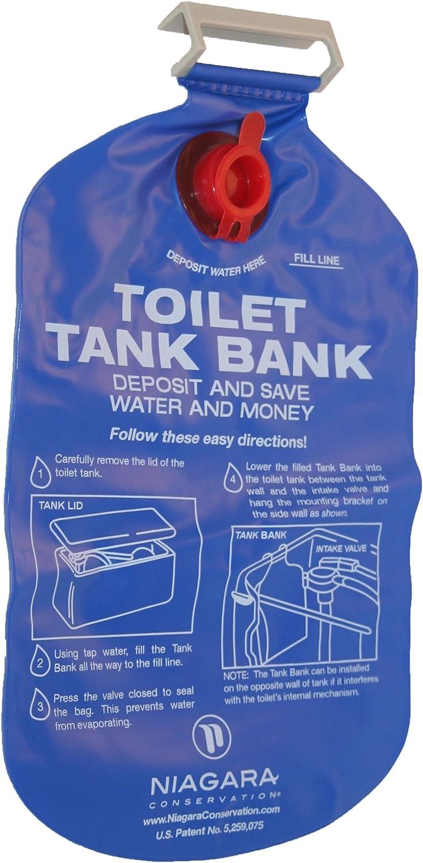 Niagara - Bolsa para ahorrar agua (para inodoros, 2,5 L): Amazon ...
