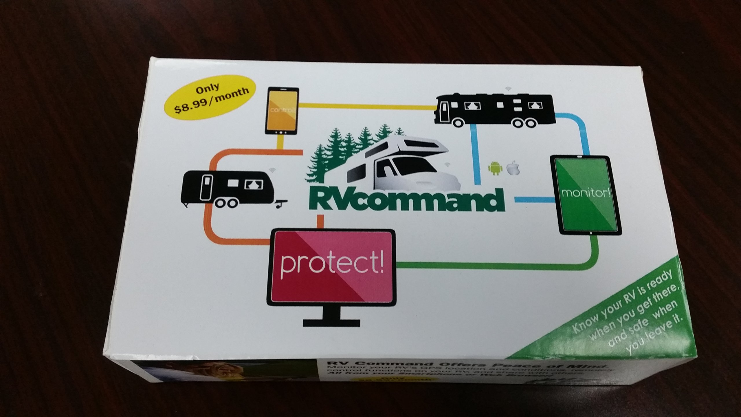 RV Command - Complete New RV GPS Tracking and Monitoring System for Travel Trailer, 5th Wheel, Motorhome, Camping Trailer Protection