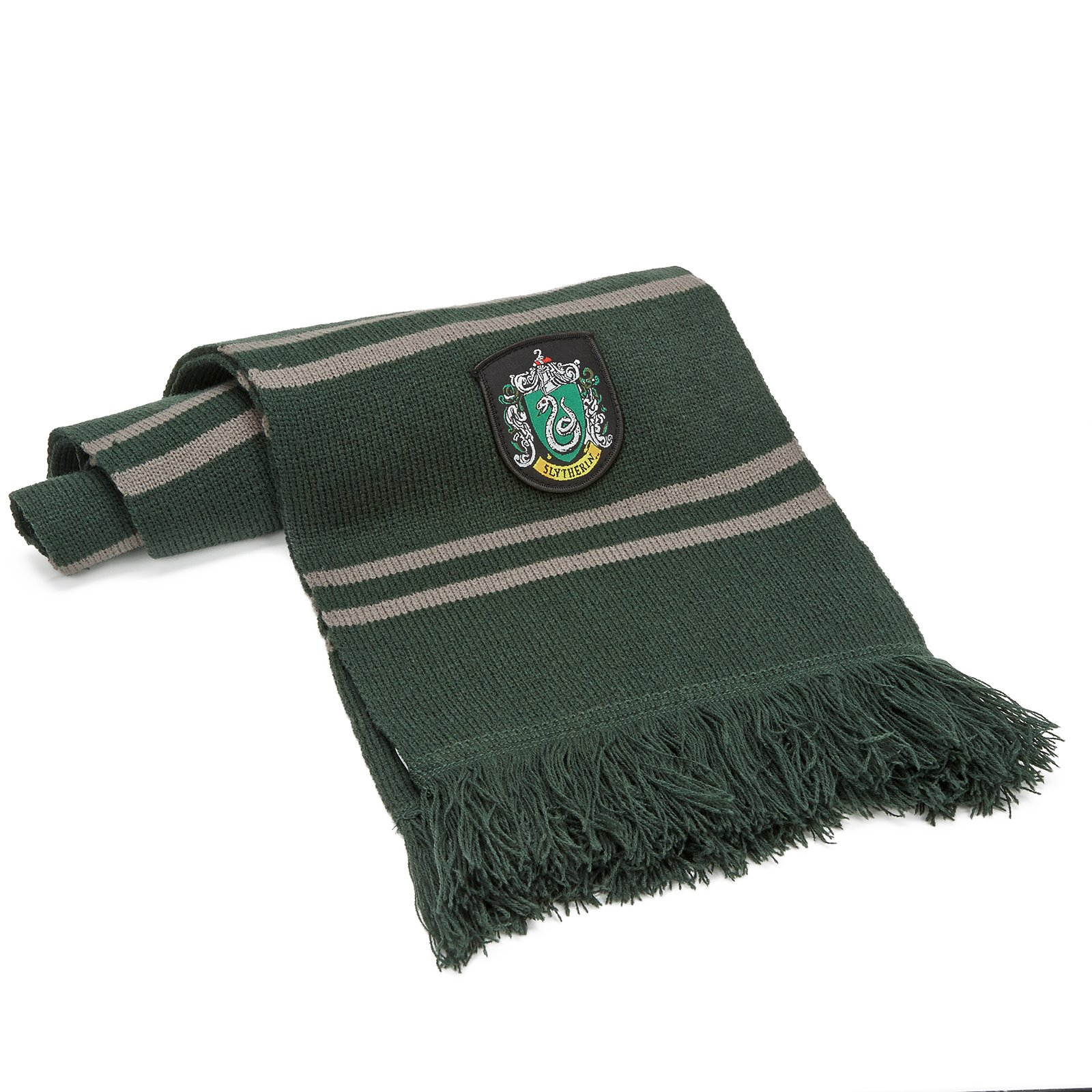 Harry Potter Scarf - Official - Ultra Soft Knitted Fabric - by Cinereplicas (Slytherin)