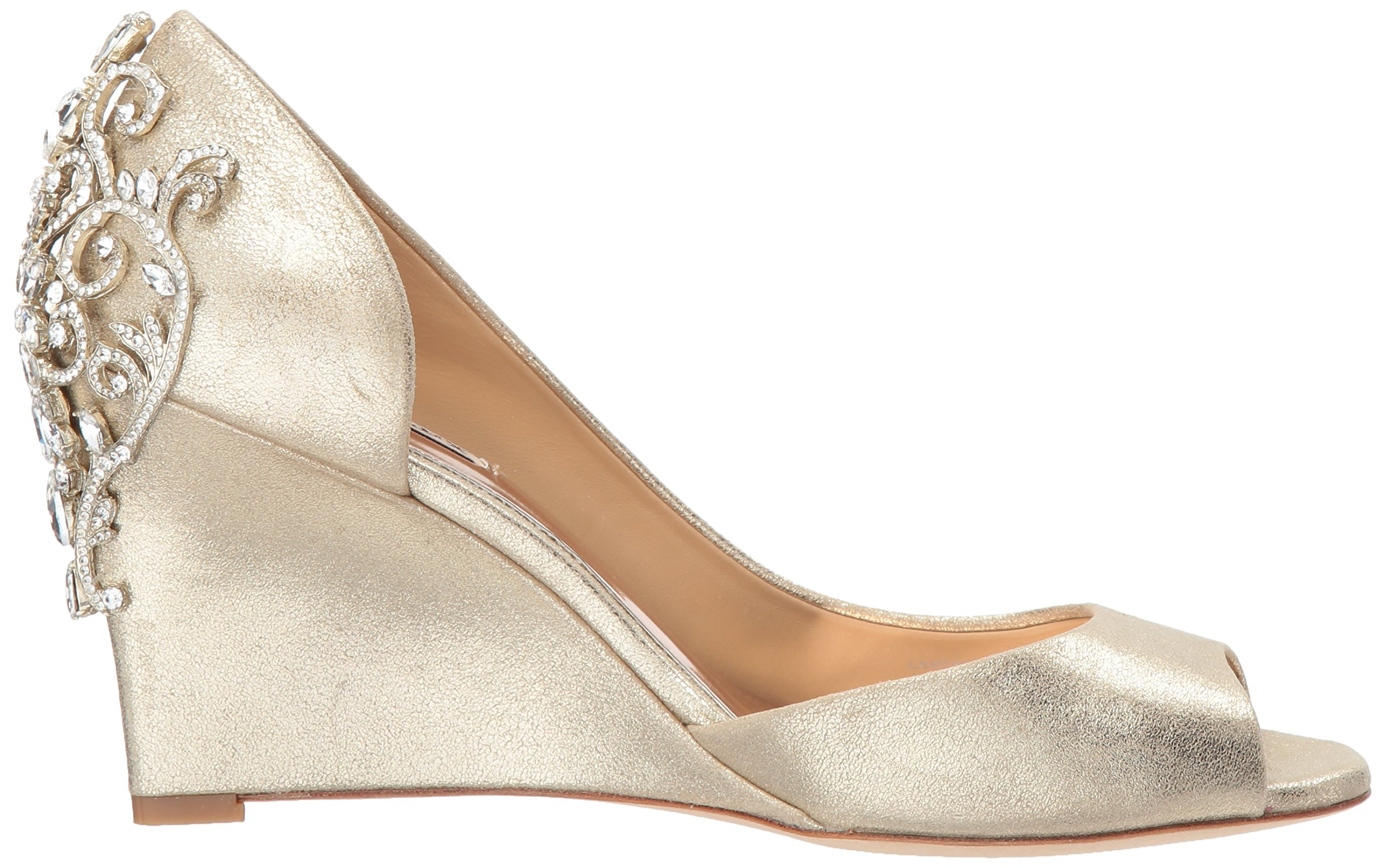 Badgley Mischka Women's Meagan II Pump, platino_929, 7 M US by Badgley Mischka (Image #7)