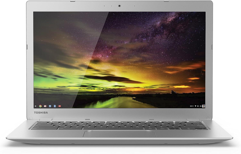 Toshiba CB35-B3330 13.3 Inch Chromebook (Intel Celeron, 2GB, 16GB SSD, Silver) (Renewed)