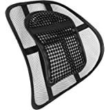 AMOS Chair Back Support Seat Sit Tight Right with Elasticated Positioning Strap and Mesh Lumbar Grill (1 Pack)