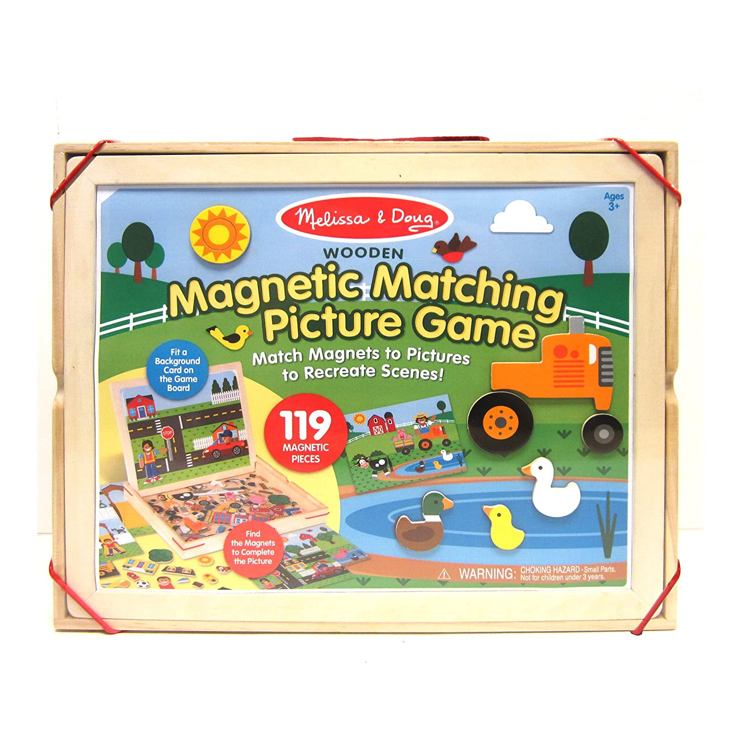 Amazon.com: Melissa & Doug Wooden Magnetic Matching Picture Game ...