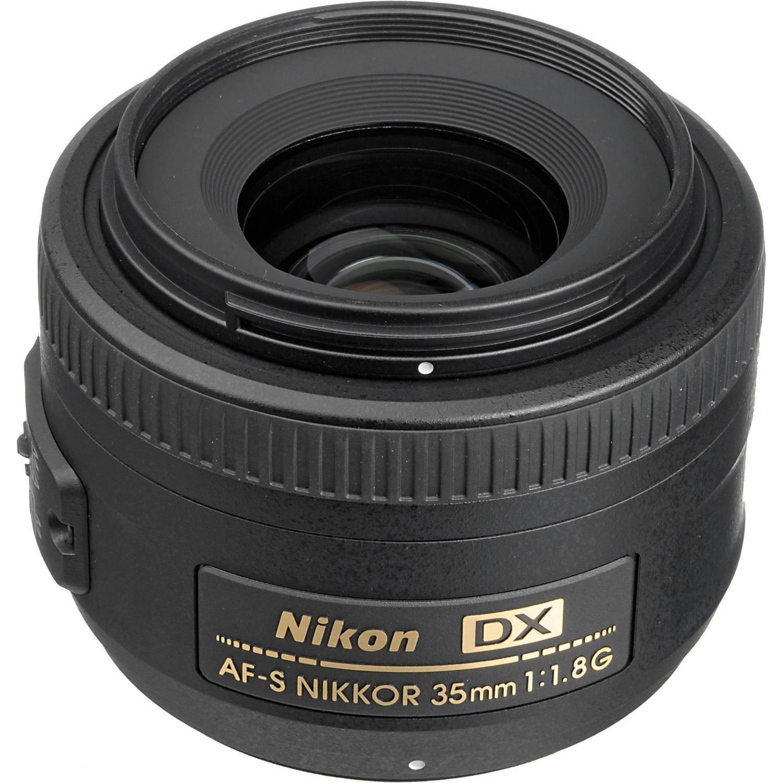 Nikon AF-S DX NIKKOR 35mm f//1.8G Lens with Auto Focus for Nikon DSLR Cameras