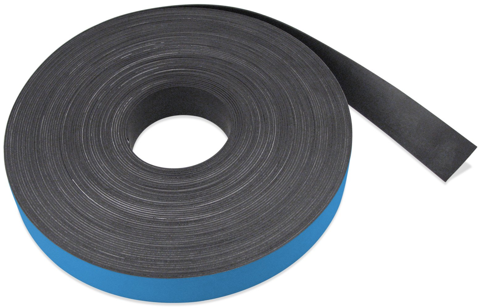 Flexible Magnet Strip with Blue Vinyl Coating, 1/32'' Thick, 3'' Height, 50 Feet, 1 Roll