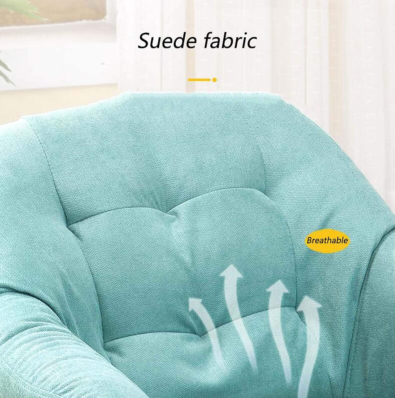 Yd&h Swivel datorstol för hemklädd verkställande kontorsstol med armar ergonomisk justerbar arbetsstol med kammat ryggstöd och hjul, C a