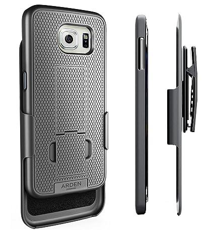 Galaxy S6 Belt Case - Arden HexGrip Slim Case with Kickstand & Rotating  Belt Clip Holster - Ultra Thin Design (Samsung Galaxy S6) [MFR