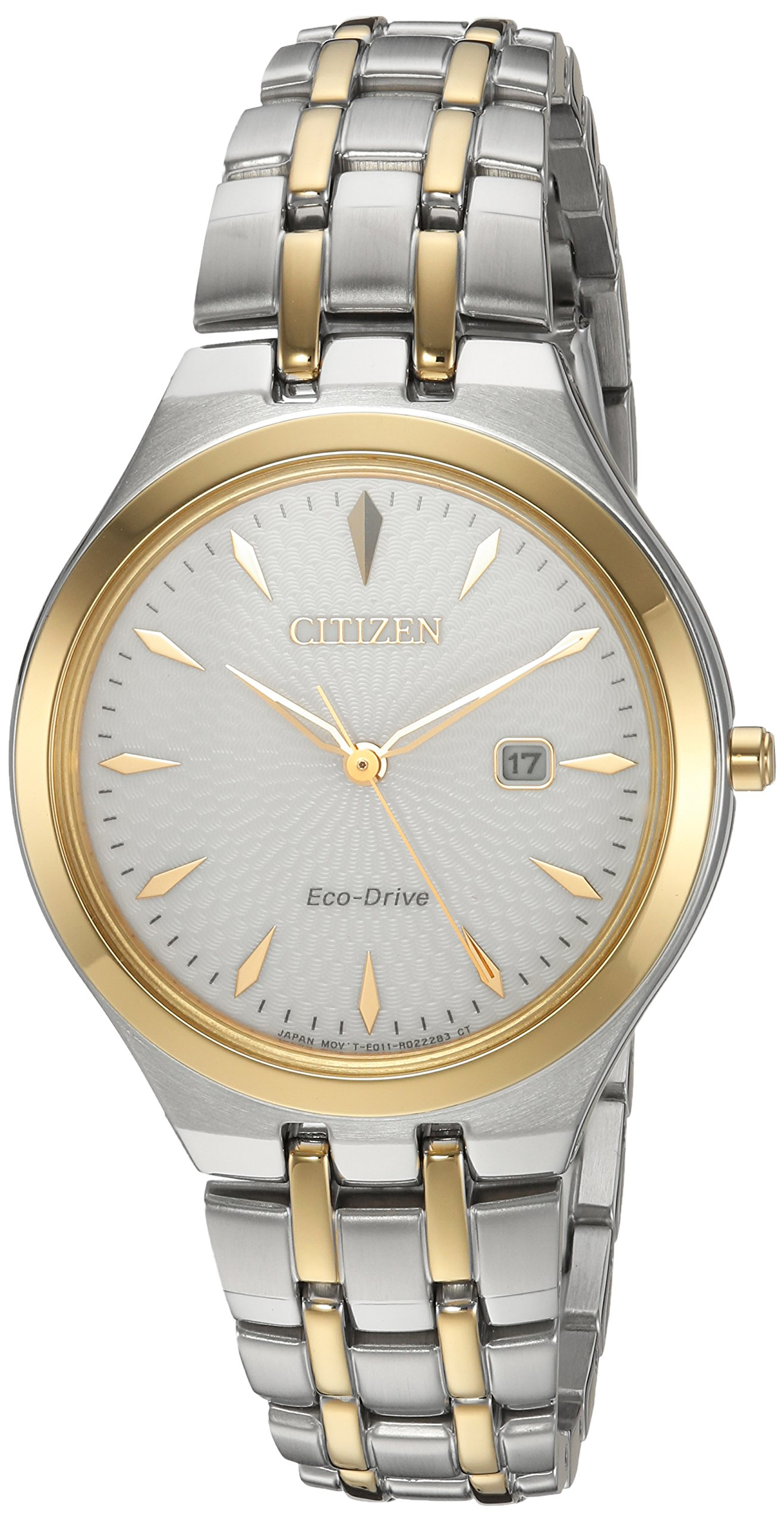 Citizen Women's 'Eco-Drive' Quartz Stainless Steel Casual Watch, Color:Two Tone (Model: EW2494-54A)