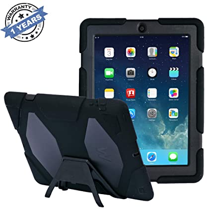 sports shoes 18636 cc9b1 Pad Cases,iPad 2 Case,iPad 3 Case,iPad 4 Case,TRAVELLOR[Heavy Duty] iPad  Case,Three Layer Armor Defender And Full Body Protective Case Cover With ...