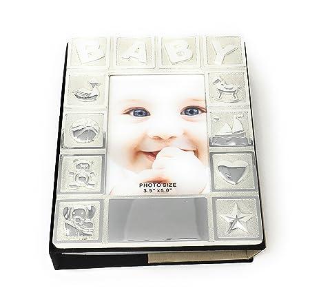 Personalised Silver Plated Baby Photo Album Amazoncouk Kitchen