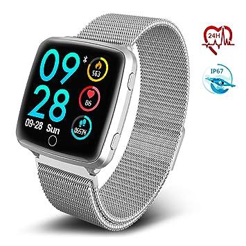 TECKEPIC BL89 Montre Connectée Trackers dactivité HR Smartwatch Bracelet Connecté Podomètre Calories pour Android