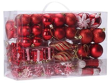Amazon.com: Sea Team 72-Pack Assorted Shatterproof Christmas Balls ...