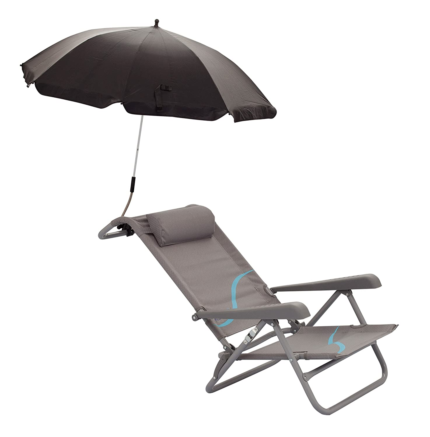 Meerweh Folding Adjustable Beach and Camping Chair with Wide