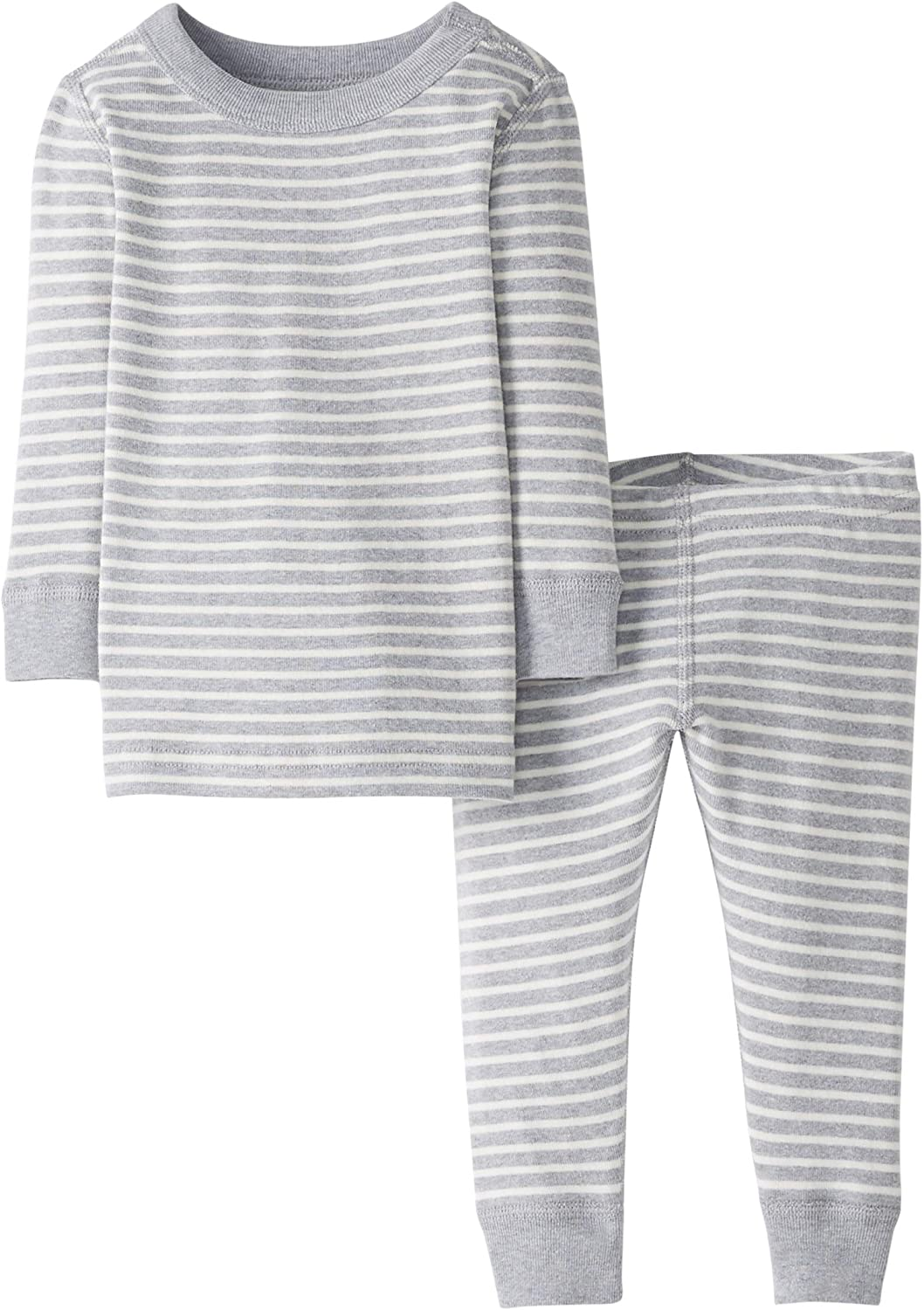 2T Gray Stripe Moon and Back by Hanna Andersson Baby//Kleinkind Schlafanzug-Set 2-teilig