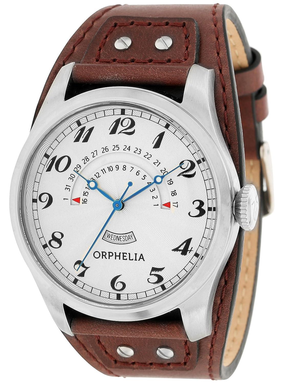Orphelia Herren-Armbanduhr Analog Quarz Leder