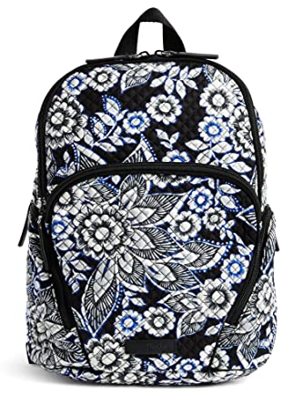 Vera Bradley Quilted Signature Cotton Hadley Backpack (Black Snow Lotus) 1d82efd9fc144