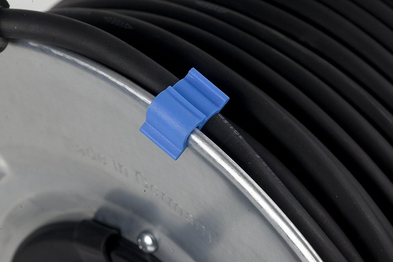 25 m H05RR-F 3G1.5 IP20 Innenbereich schwarz Schwabe 10411 Metall-Kabeltrommel 285 mm /ø as