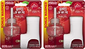 Glade Plugins Scented Oil Refill - Apple of My Pie - 1 Count Refill & 1 Count Oil Warmer Per Package - Pack of 2 Packages
