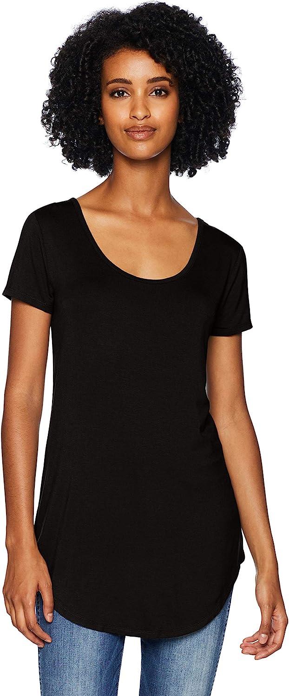 Marque Daily Ritual Jersey Short-Sleeve Open Crew Neck Shirt Femme