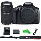 Canon EOS Rebel T6 Digital SLR Camera with EF 75-300mm f/4-5.6 III Lens + DigitalAndMore Microfiber Cloth