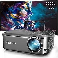 Okcoo Native Full HD 1080p 6500-Lumens Home Theater Projector