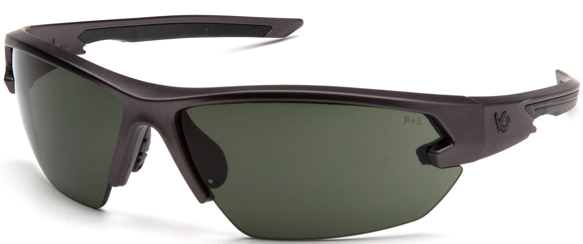 Venture Gear Tactical Semtex 2.0 Safety Shooting Glasses, Gun Metal Frame, Forest Gray Anti-Fog Lens