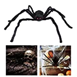 "Amazon Price History for:HOTSAN Giant Halloween Spider 50"" Large Fake Spider Outdoor Halloween Decorations - Squeak with Spooky Voice when Touch"