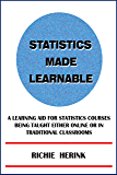Statistics Made Learnable — A Learning Aid for Statistics Courses