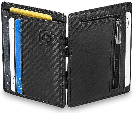 b4051017c3683 GenTo® Magic Wallet Vegas - Wild-Leder-Optik - TÜV geprüfter RFID ...
