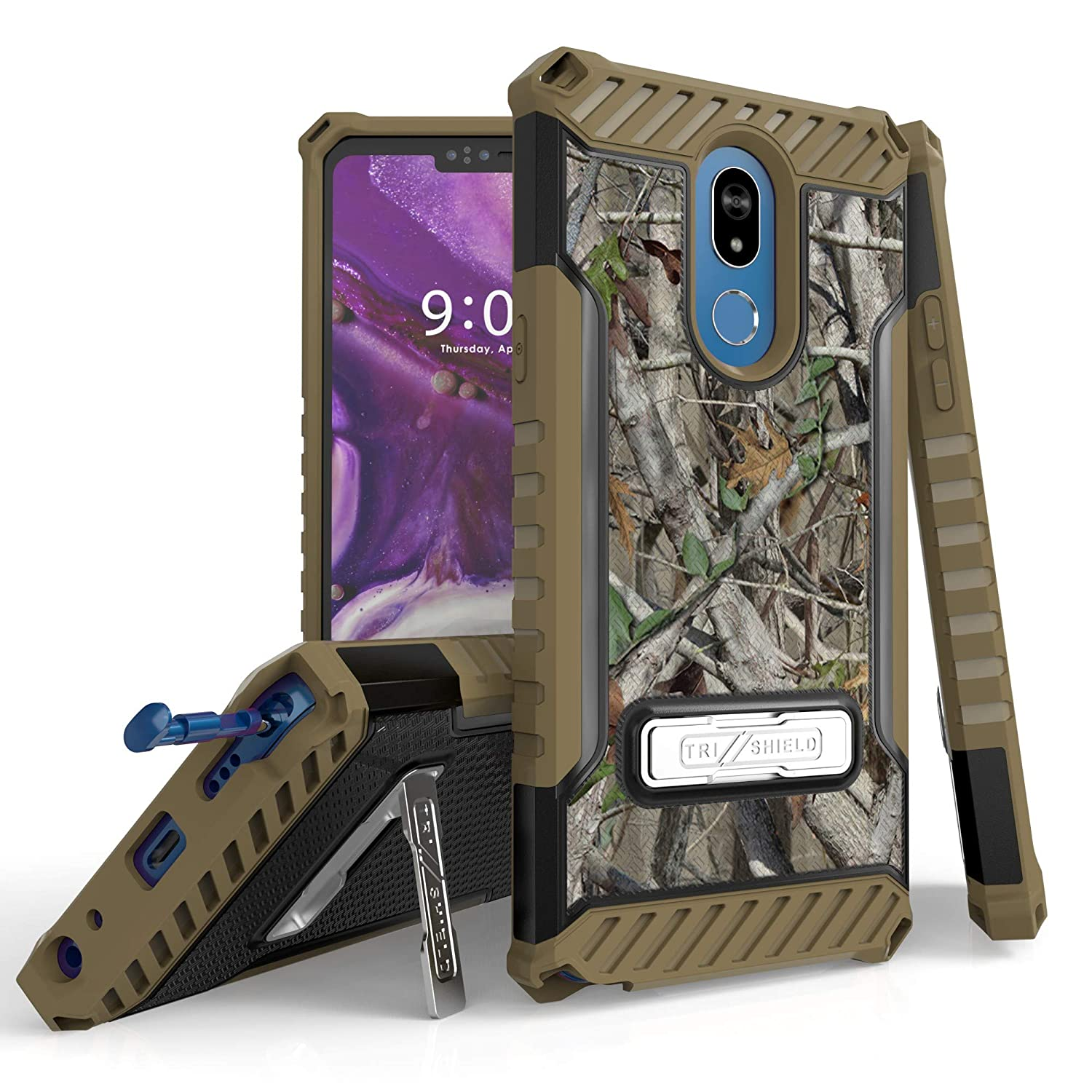 PimpCase Compatible with LG Stylo4 Case, Durable Hybrid Rugged Armor Shockproof Compatible with LG Stylo 4 (2018 Released) - Autumn Hunter Camouflage