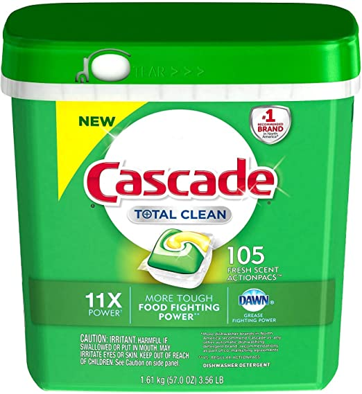 Amazon.com: Cascada Total Clean Gel lavaplatos detergente ...