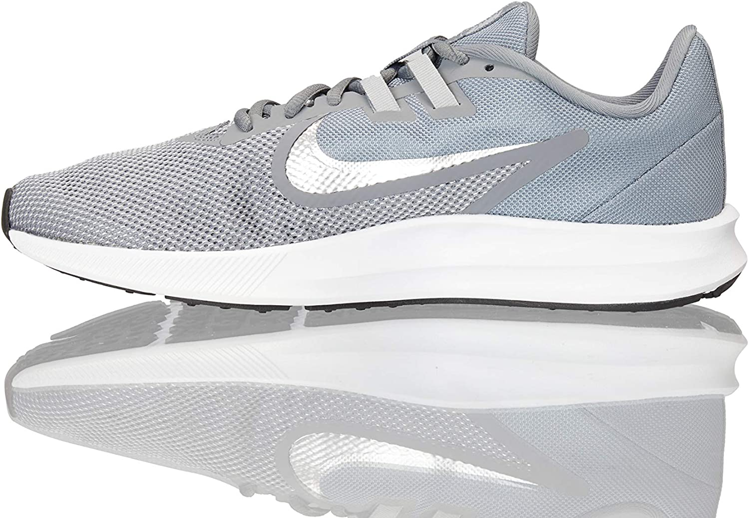 Nike Men s Downshifter 9 Running Shoe, cool grey metallic silver – wolf grey, 11 Regular US