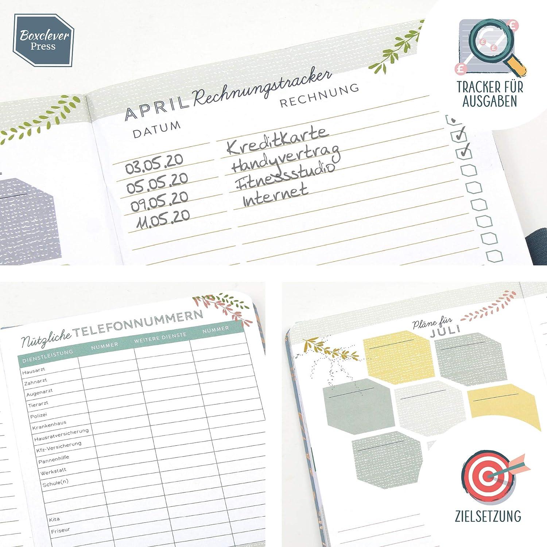 Planer 2020 Wochenplaner Boxclever Press Everyday Taschenkalender 2020 To-Do-Listen und Monats/übersichten Handlicher Kalender 2020 von Januar bis Dezember Seiten f/ür Budget Altrosa